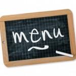 Le menu du mois